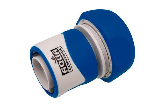 Enlace rapido 19 mm. bicomponente: acetal (pom) y caucho
