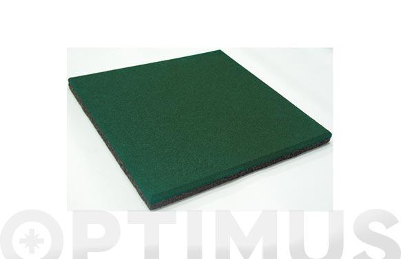 Loseta caucho granulado 50x50x2 cm verde