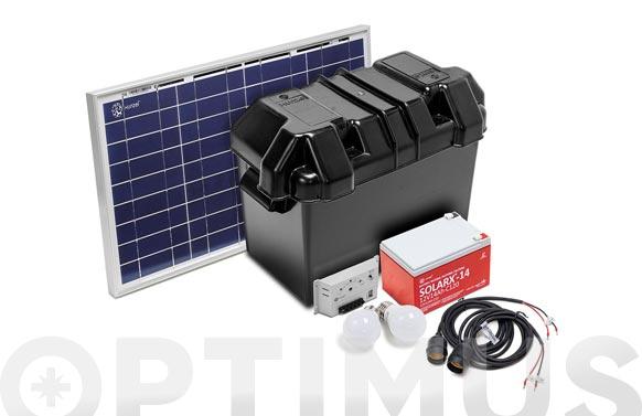 Kit solarlife con accesorios 10w-12v
