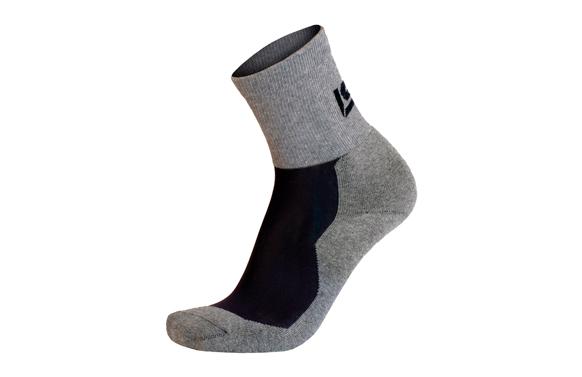 Calcetin runner corto gris t 35-38 (s)