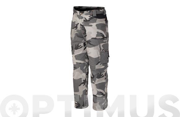 Pantalon desmontable algodon 220 gr camuflaje t s gris