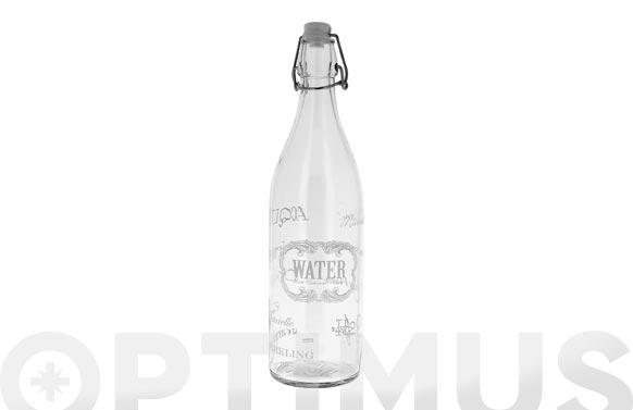 Botella cristal 1l decorada white text