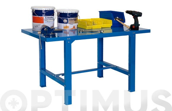 Banco trabajo metalico bt6 azul 83 x 120 x 73 cm