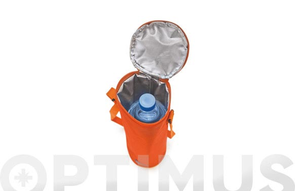 Funda botellas refrigerada c/asa bottle cooler naranja