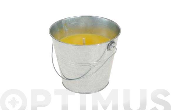 Vela citronela cubo metalico 2 unidades