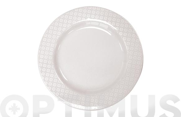 Vajilla porcelana decorada 20p banda cenefa blanca