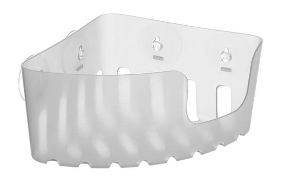 Cesto rinconero con ventosas glace 20 x 20 x 11 cm