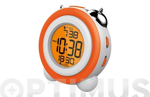 Reloj despertador dcd-220 naranja