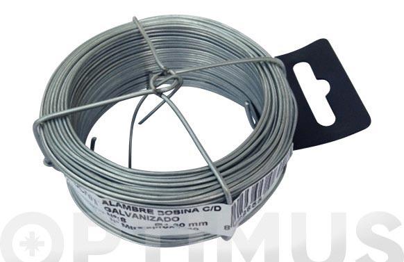 Alambre galvanizado en bobina 75 m n- 2/0.7 mm