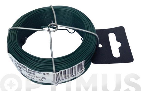 Alambre plastificado en bobina 50 m 0,7/1,2 mm verde
