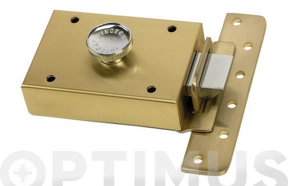 Cerradura sobreponer contrapalanca llave sola 303/60 latonada