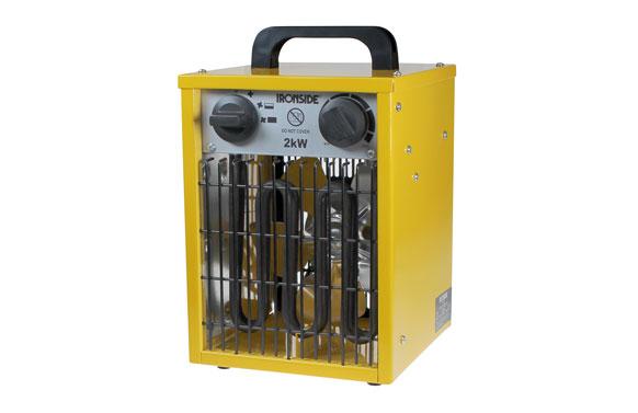 Calefactor profesional 1.000 / 2.000 w con termostato y asa de transporte