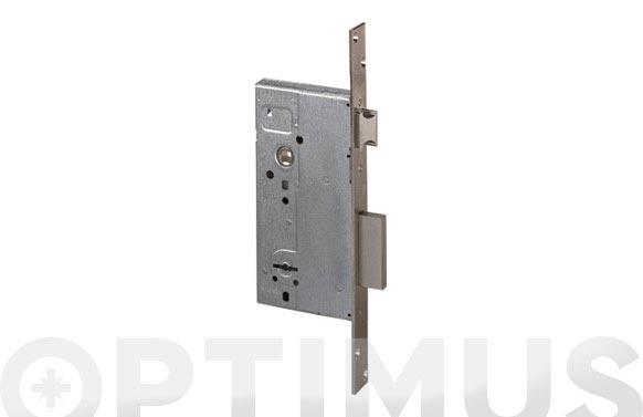 Cerradura seguridad latonada golpe y llave 50 mm/borjas 2 vueltas