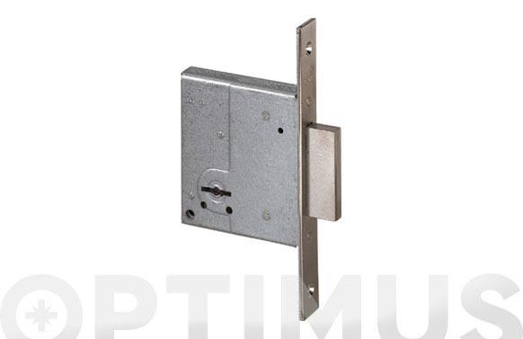 Cerradura seguridad latonada llave sola 50 mm/borjas 2 vueltas