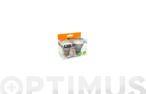 Lampara led dicroica pro 5w 2 unidades gu10 450lm luz calida (3000k)