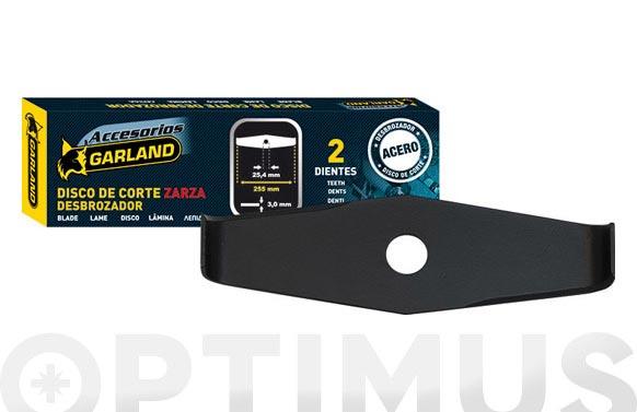 Disco desbrozadora 2 dientes ø 305mm eje 25,4 mm >40cc - maleza y zarzas