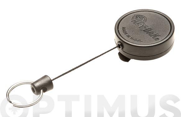 Retractil con cable poliester 90 cm 6-clip cinturon