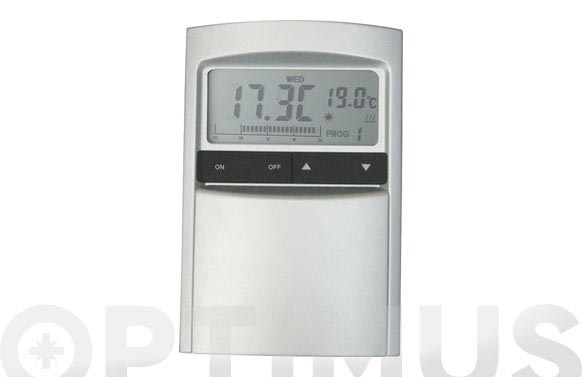 Cronotermostato digital aluminio/grafito