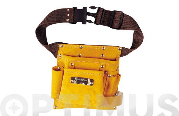 Bolsa piel portaherramientas con cinturon sencilla