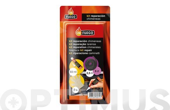 Kit reparacion chimeneas ø10mm + pegamento+guantes