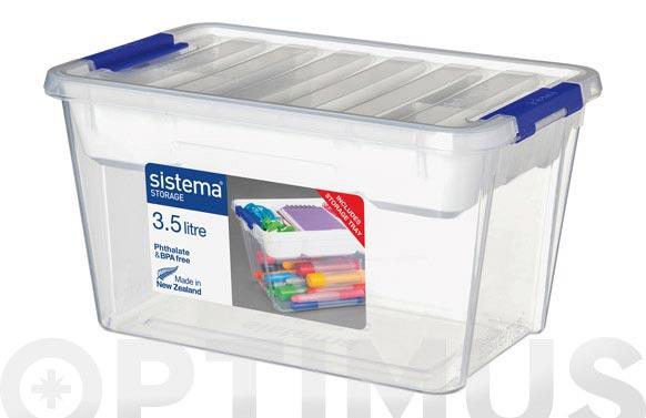 Caja plastico con bandeja 3,5 litros