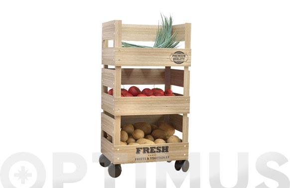 Verdulero madera fresh market