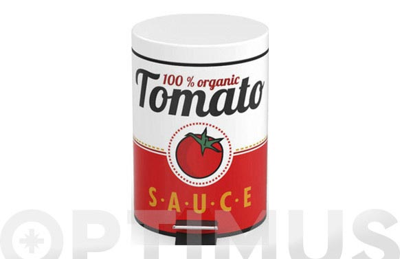 Cubo basura metal tomate sauce 5 l