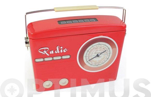 Caja metalica radio roja