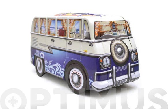 Caja metalica furgoneta surf azul