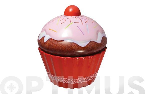 Caja metalica cupcake grande rosa