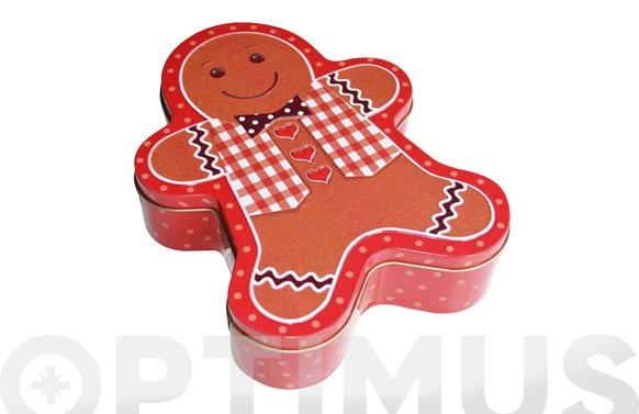 Caja metalica gingerbreadman grande
