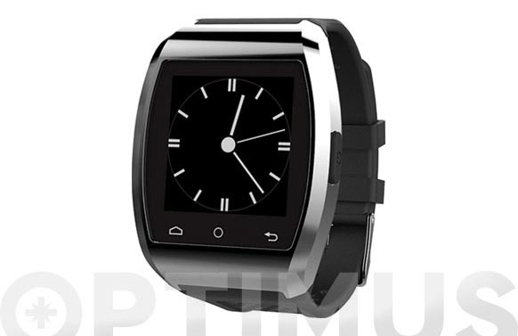 Reloj smart watch compatible ios plata/negro
