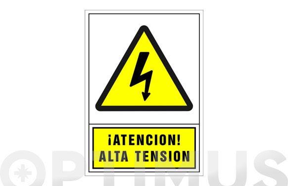 Señal advertencia castellano 490x345 mm-atencion alta tension
