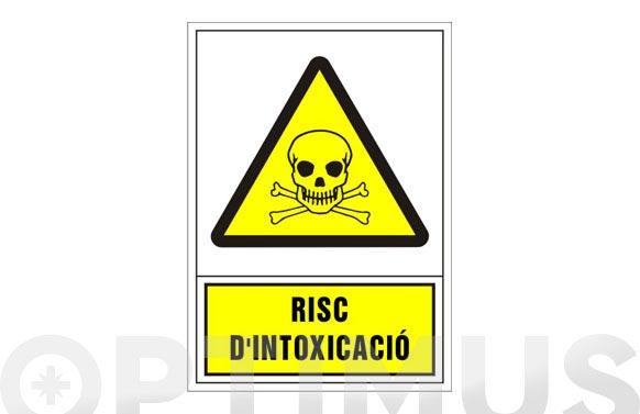 Señal advertencia catalan 345x245 mm-risc d'intoxicacio