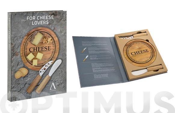 Cuchillos queso set 2uds +tabla inox-acacia