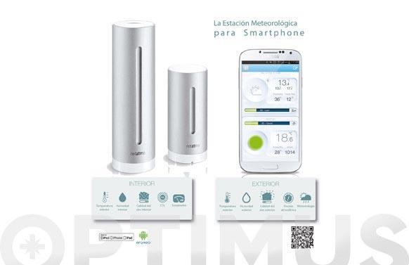Estacion meteorologica netatmo smartphone