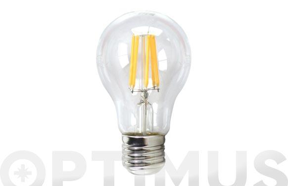 Lampara led filamento standard 610lm 6w e27 luz calida (3000k)