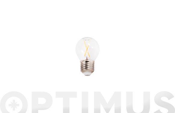 Lampara led filamento esferica 390lm 3w e27 luz calida (3000k)