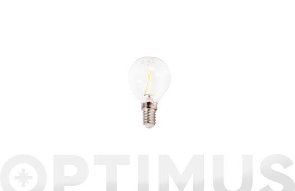 Lampara led filamento esferica 390lm 3w e14 luz calida (3000k)