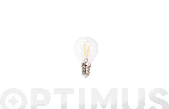 Lampara led filamento esferica 410lm 3w e14 luz blanca (5000k)