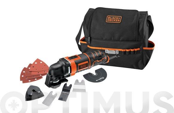 Multiherramienta oscilante 300 w 12 accesorios y bolsa
