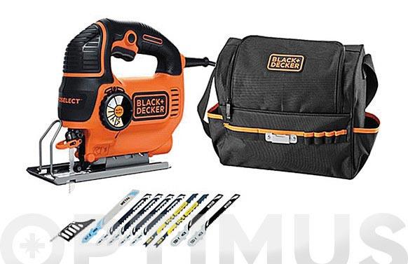 Sierra de calar con cable pendular 620 w 10 accesorios y bolsa