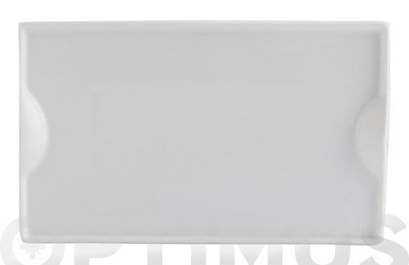 Plato porcelana gastro pinchos 25,5x16 cm