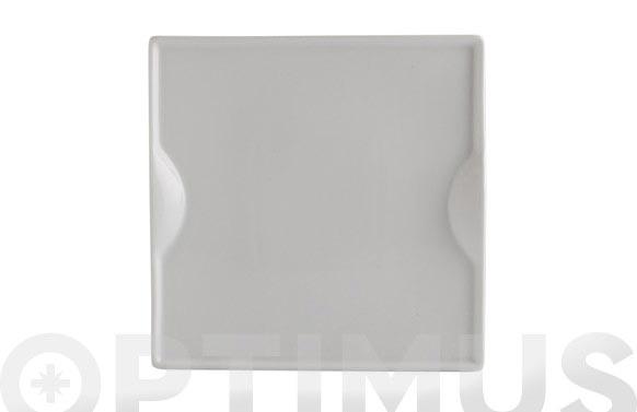 Plato porcelana gastro pinchos 22,5x22,5 cm