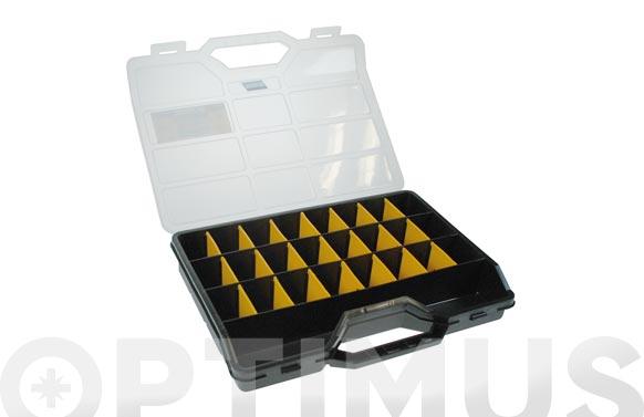 Estuche 21 separadores moviles 312 x 238 x 51 mm