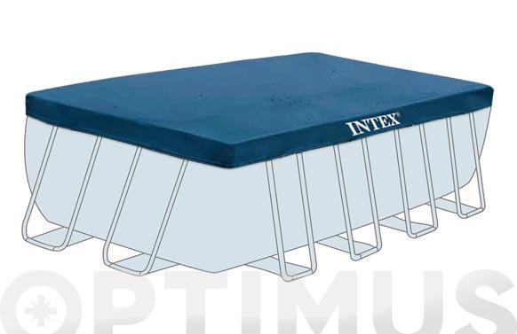 Cubierta piscina rectangular desmontable tubular 4,6 x 2,26 (para 9676889) rec
