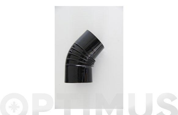 Codo vitrificado negro chimenea ø110 45.