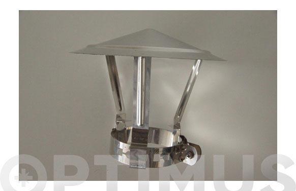 Sombrero inox extensible chimenea sei2 ø120-155