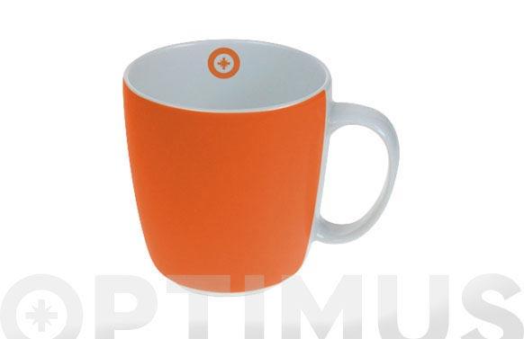 Mug porcelana naranja