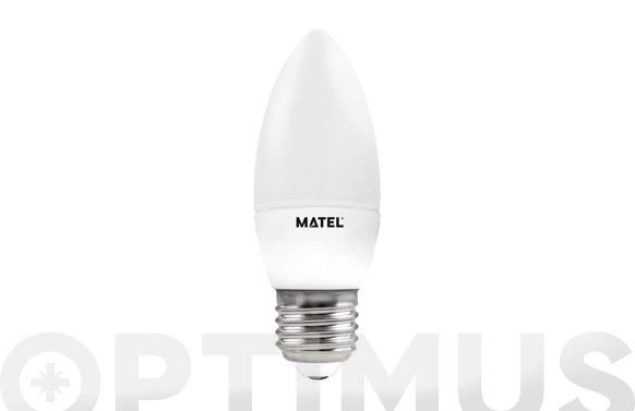 Lampara vela led al + pc e27 6w luz calida